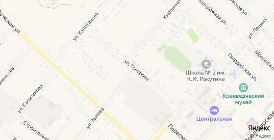 Улица Говорова в Ельне с номерами домов на карте. Спутник и схема онлайн