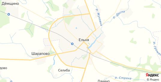 Карта Ельни с улицами и домами подробная. Показать со спутника номера домов онлайн