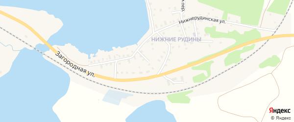 1-й Лучевой переулок на карте Осташкова с номерами домов