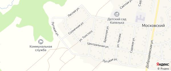 Улица Толстого на карте Московского поселка с номерами домов