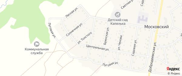 Интернациональная улица на карте Московского поселка с номерами домов