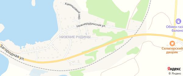 4-й Лучевой переулок на карте Осташкова с номерами домов