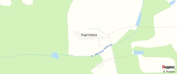Карта деревни Хартовки в Смоленской области с улицами и номерами домов