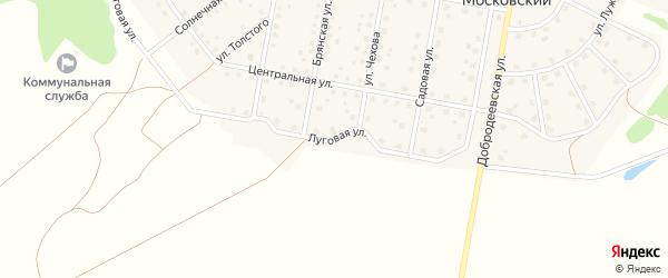 Луговая улица на карте Московского поселка с номерами домов