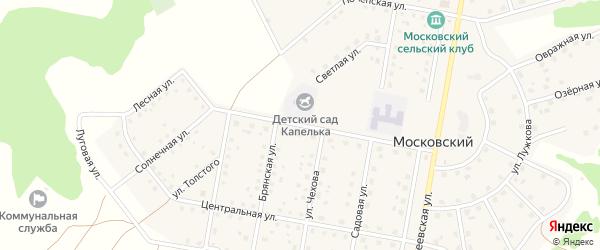 Школьная улица на карте Московского поселка с номерами домов