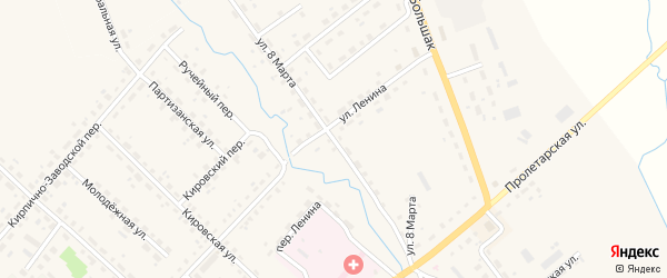 Улица 8 Марта на карте Ельни с номерами домов