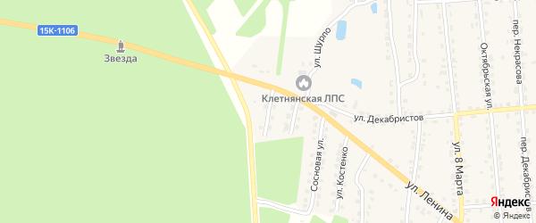 Улица 50-й Армии на карте поселка Клетня с номерами домов