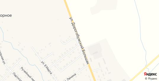 Улица Дорогобужский большак в Ельне с номерами домов на карте. Спутник и схема онлайн