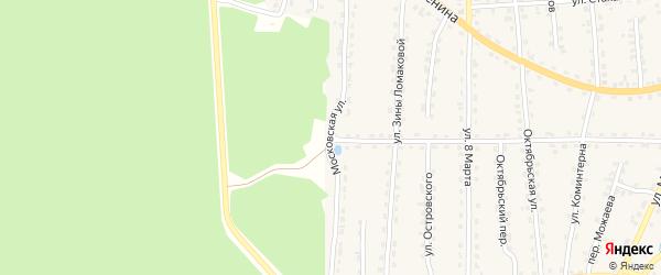 Московская улица на карте поселка Клетня с номерами домов
