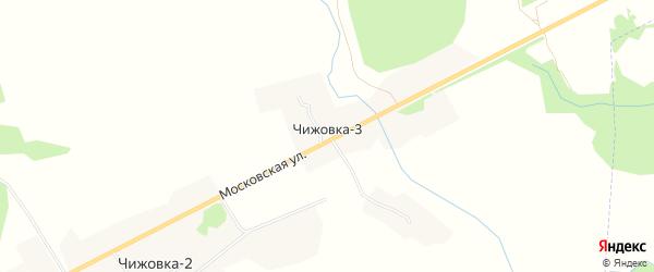 Карта деревни Чижовки-3 в Смоленской области с улицами и номерами домов