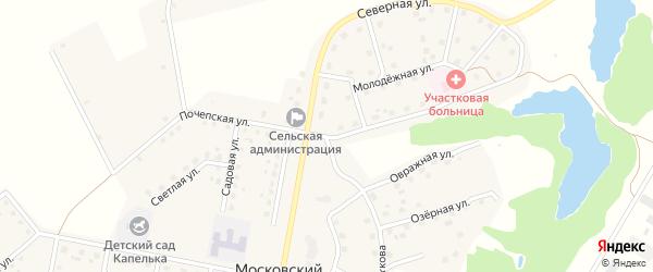 Почепская улица на карте Московского поселка с номерами домов