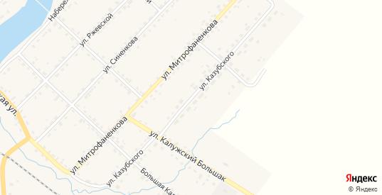 Улица Казубского в Ельне с номерами домов на карте. Спутник и схема онлайн