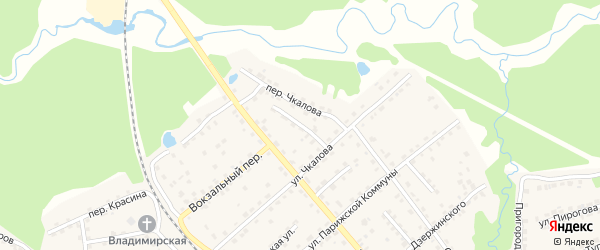 Надвинский переулок на карте поселка Клетня с номерами домов