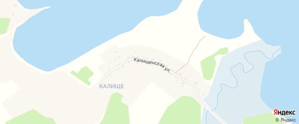 Калищенская улица на карте поселка Сиговка с номерами домов