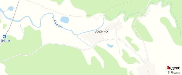 Карта деревни Зорино города Осташкова в Тверской области с улицами и номерами домов