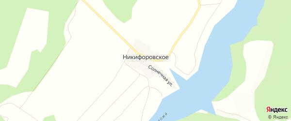 Карта деревни Никифоровского в Смоленской области с улицами и номерами домов