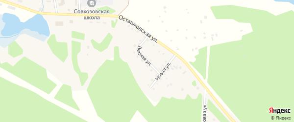 Лесная улица на карте поселка Сиговка с номерами домов