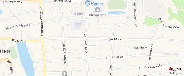 Улица Мира на карте поселка Клетня с номерами домов