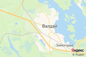 Карта г. Валдай Новгородская область