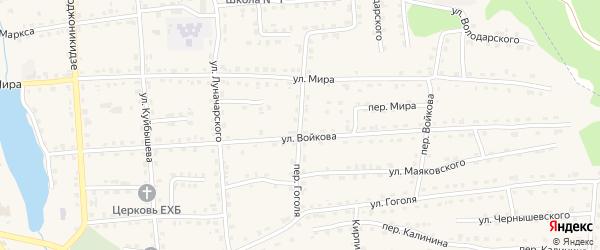 Переулок Гоголя на карте поселка Клетня с номерами домов
