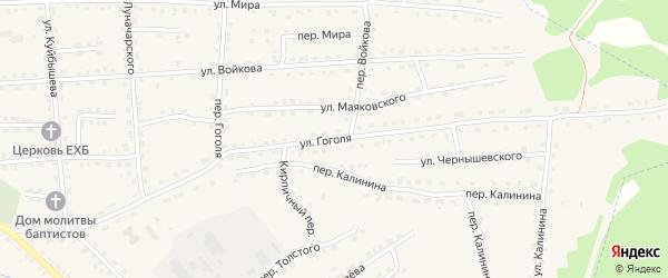 Улица Гоголя на карте поселка Клетня Брянской области с номерами домов