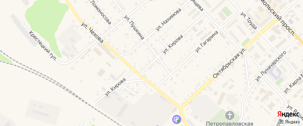 Улица Кирова на карте Валдая с номерами домов