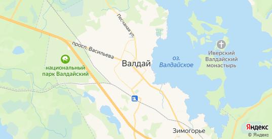 Карта Валдая с улицами и домами подробная. Показать со спутника номера домов онлайн