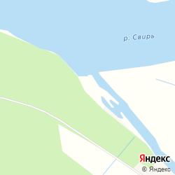 Участок сельхозназначения на берегу рек Свирь и Заостровка у деревни Заостровье на карте