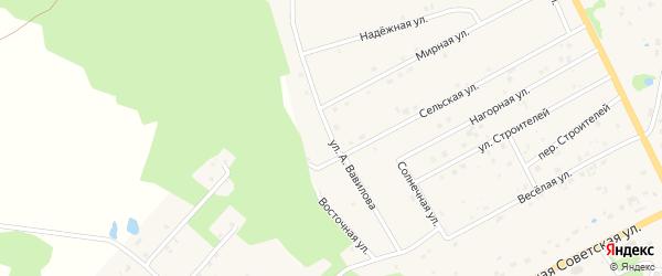 Улица А.Вавилова на карте села Екимовичи Смоленской области с номерами домов