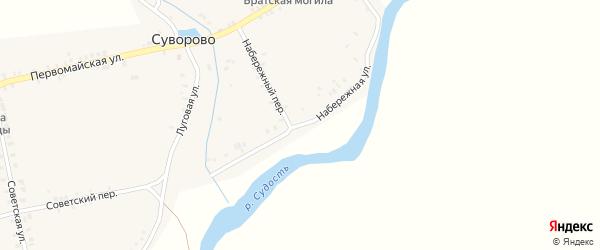 Набережная улица на карте села Суворово с номерами домов