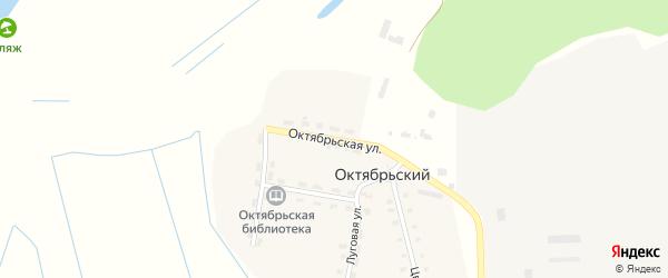 Октябрьская улица на карте Октябрьского поселка Брянской области с номерами домов