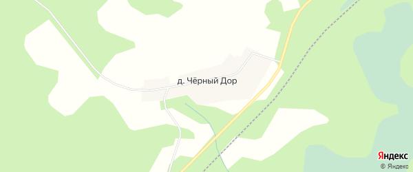 Карта деревни Черного Дор города Осташкова в Тверской области с улицами и номерами домов