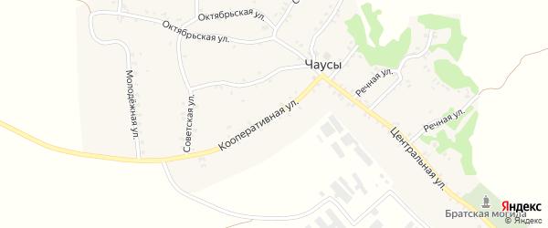 Кооперативная улица на карте села Чаус с номерами домов