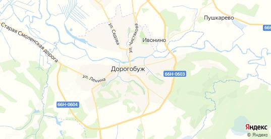 Карта Дорогобужа с улицами и домами подробная. Показать со спутника номера домов онлайн