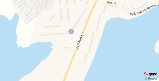 Улица Мира в Гаджиево с номерами домов на карте. Спутник и схема онлайн