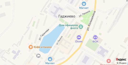 Улица Ленина в Гаджиево с номерами домов на карте. Спутник и схема онлайн
