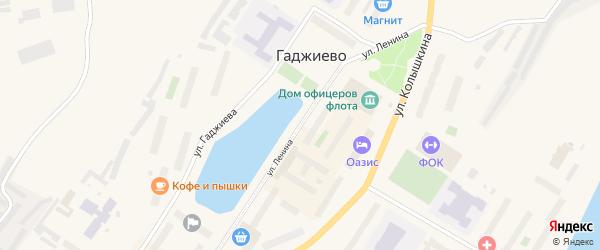 Улица Ленина на карте Гаджиево с номерами домов