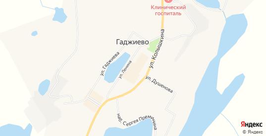 Карта населенного пункта Сайда-Губа в Гаджиево с улицами, домами и почтовыми отделениями со спутника онлайн