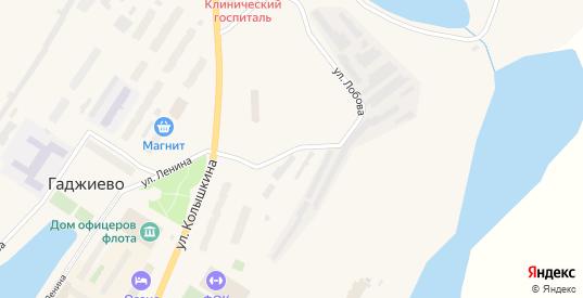 Улица Лобова в Гаджиево с номерами домов на карте. Спутник и схема онлайн