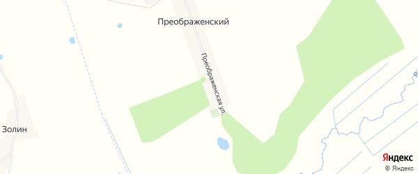 Карта Преображенского поселка в Брянской области с улицами и номерами домов