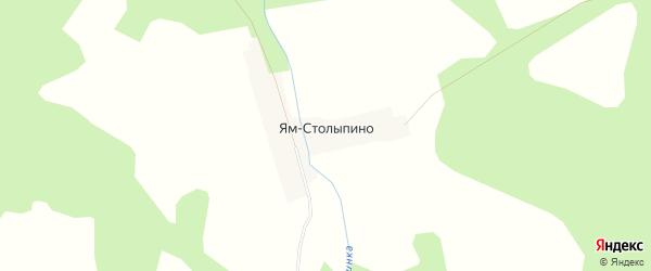 Карта деревни Ям Столыпино в Тверской области с улицами и номерами домов