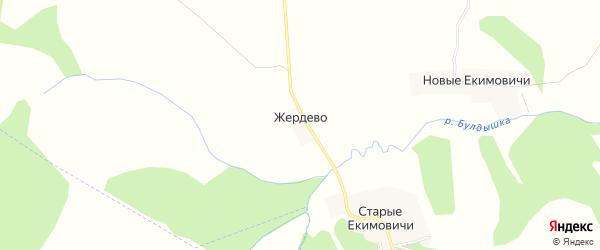 Карта деревни Жердево в Смоленской области с улицами и номерами домов