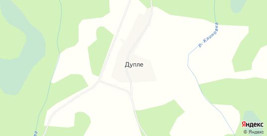Карта деревни Дупле в Тверской области с улицами, домами и почтовыми отделениями со спутника онлайн