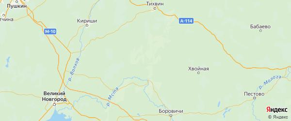 Карта Любытинского района Новгородской области с городами и населенными пунктами