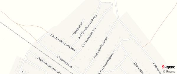 Октябрьская улица на карте поселка Сещи с номерами домов