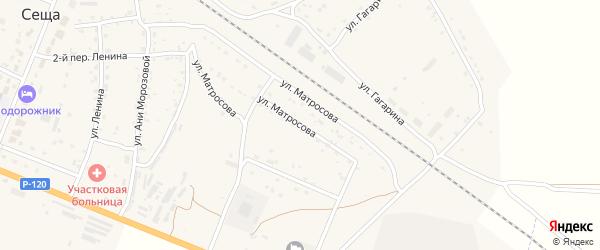 Улица Матросова на карте поселка Сещи с номерами домов