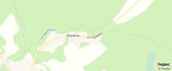 Карта деревни Конят в Смоленской области с улицами и номерами домов