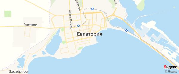 Карта Евпатории с районами, улицами и номерами домов