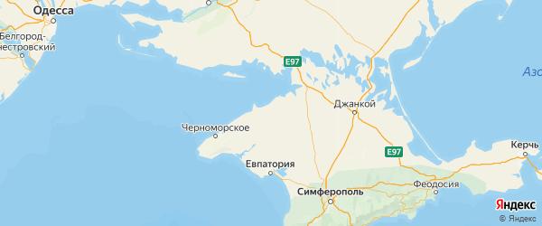 Карта Раздольненского района Республики Крыма с городами и населенными пунктами