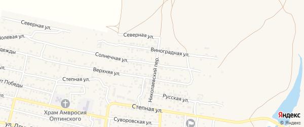 Солнечная улица на карте Суворовского села Крыма с номерами домов